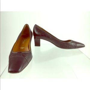 Bruno Magli black leather sensible heel shoes